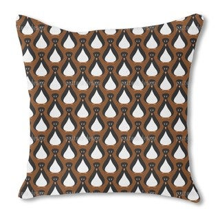 Sir Penguin Burlap Pillow Single Sided