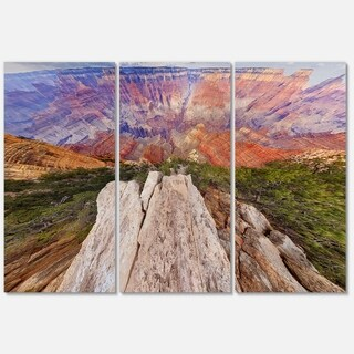 Grand Canyon View from Above - Modern Seascape Metal Wall At - 36Wx28H