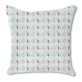 Bird House Romance Burlap Pillow Double Sided