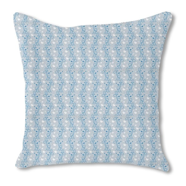 Hearts and Swirls Burlap Pillow Double Sided