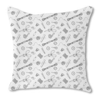 Sewing Fun Burlap Pillow Single Sided