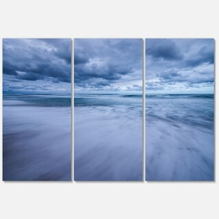 Stormy Clouds Over Ocean - Modern Seascape Metal Wall At - 36Wx28H