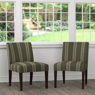 Portfolio Nate Striped Slipper Chairs (Set of 2)