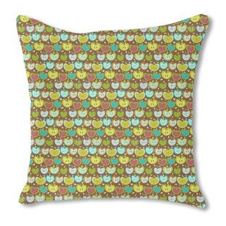 Sweet Apple Patchwork Burlap Pillow Double Sided