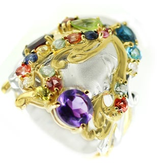 One-of-a-kind Michael Valitutti Multi-Gemstone Lady Cocktail Ring