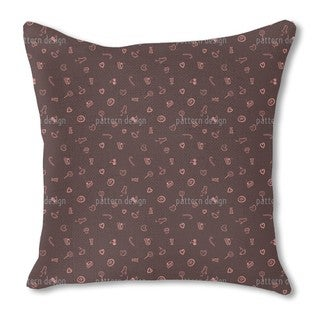 I Love Sweets Burlap Pillow Single Sided