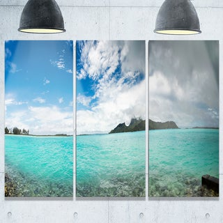 Bora Bora French Polynesia Panorama - Large Seascape Metal Wall At - 36Wx28H