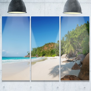 Anse Georgette Beach Light Blue - Large Seascape Metal Wall At - 36Wx28H