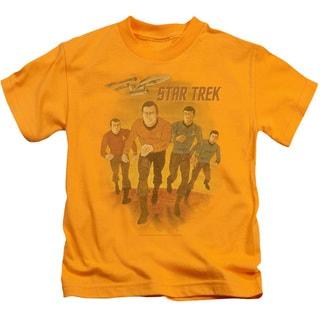 Star Trek/Animated Short Sleeve Juvenile Graphic T-Shirt in Gold