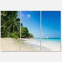 Beautiful Praslin Island Seychelles - Large Seascape Metal Wall At - 36Wx28H