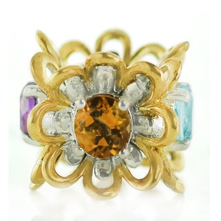 One-of-a-kind Michael Valitutti Amethyst, Citrine, Garnet and Swiss Blue Topaz Charm