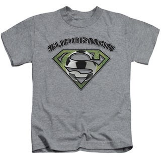 Superman/Soccer Shield Short Sleeve Juvenile Graphic T-Shirt in Heather
