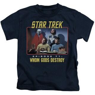 Star Trek/Episode 71 Short Sleeve Juvenile Graphic T-Shirt in Navy
