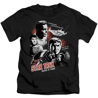 Star Trek/Balance Of Terror Short Sleeve Juvenile Graphic T-Shirt in Black