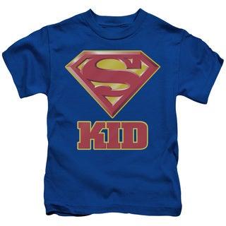 Superman/Super Kid Short Sleeve Juvenile Graphic T-Shirt in Royal