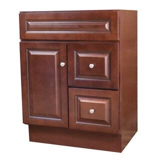 Bourdeaux Brown Wood 30-inch x 21-inch Bathroom Vanity