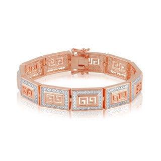Divina 14k Gold Overlay Diamond Accent Fashion Bracelet (I-J, I2-I3)
