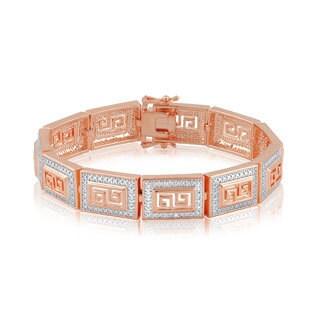Divina 14k Gold Overlay Diamond Accent Fashion Bracelet