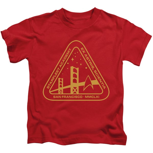 d059fafe6 Shop Star Trek/Gold Academy Short Sleeve Juvenile Graphic T-Shirt in Red -  Free Shipping On Orders Over $45 - Overstock.com - 12688570