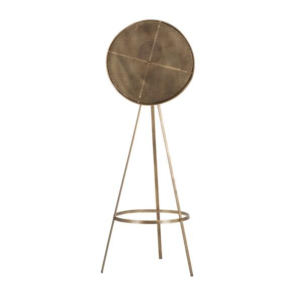 Industrial Reclaimed Metal Antique Brass Tripod Floor Lamp Free