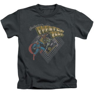 Superman/Zod Greetings Short Sleeve Juvenile Graphic T-Shirt in Charcoal
