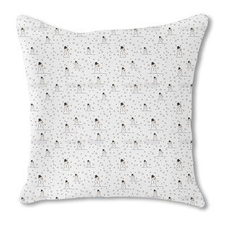 Snowman Fun Burlap Pillow Single Sided