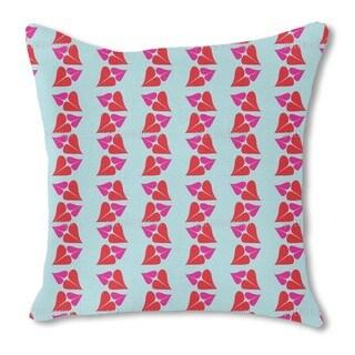 Kiss Burlap Pillow Single Sided
