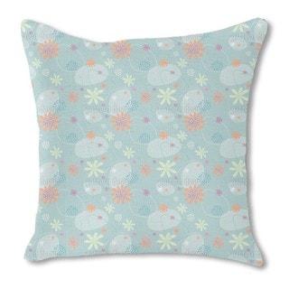 Flowers Mathilde Burlap Pillow Single Sided
