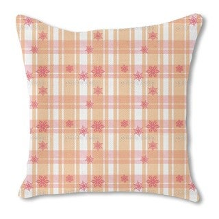 Scottish Stars Burlap Pillow Single Sided