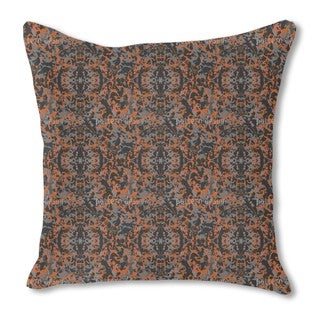In and Out Rusty Burlap Pillow Double Sided