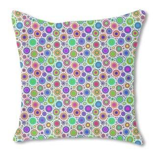Neon Bubbles Burlap Pillow Single Sided