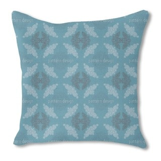 Just Lace Teal Burlap Pillow Double Sided