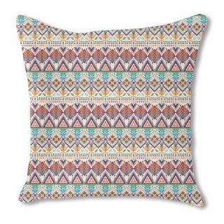 Aztec Tribal Art Burlap Pillow Double Sided