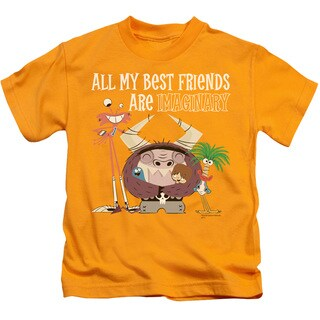 Foster's/Imaginary Friends Short Sleeve Juvenile Graphic T-Shirt in Gold