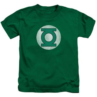 DC/Gl Logo Distressed Short Sleeve Juvenile Graphic T-Shirt in Kelly Green