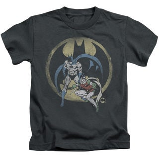 DC/Team Short Sleeve Juvenile Graphic T-Shirt in Charcoal