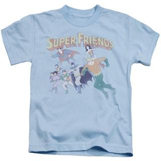 DC/Super Friends Short Sleeve Juvenile Graphic T-Shirt in Light Blue