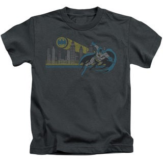DC/Gotham Retro Short Sleeve Juvenile Graphic T-Shirt in Charcoal
