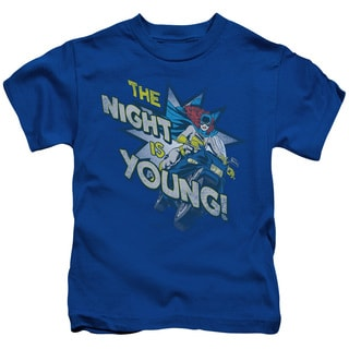 DC/The Night Is Young Short Sleeve Juvenile Graphic T-Shirt in Royal