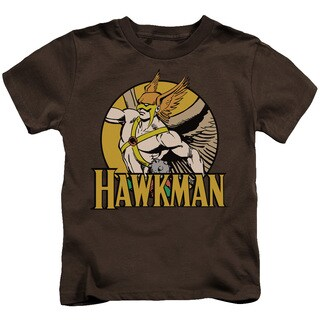 DC/Hawkman Short Sleeve Juvenile Graphic T-Shirt in Coffee