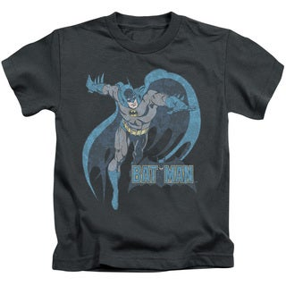 DCO/Desaturated Batman Short Sleeve Juvenile Graphic T-Shirt in Charcoal