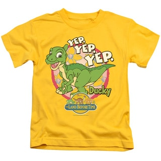 Land Before Time/Ducky Short Sleeve Juvenile Graphic T-Shirt in Yellow