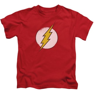DCO/Rough Flash Logo Short Sleeve Juvenile Graphic T-Shirt in Red