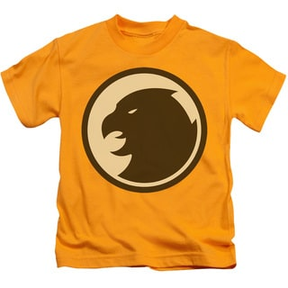 DCO/Hawkman Symbol Short Sleeve Juvenile Graphic T-Shirt in Gold