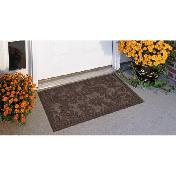 "Mohawk Monaco Leaves Doormat (1'6 x 2'6) - 1'6"" x 2'6"""