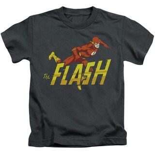 DC/ 8 Bit Flash Short Sleeve Juvenile Graphic T-Shirt in Black