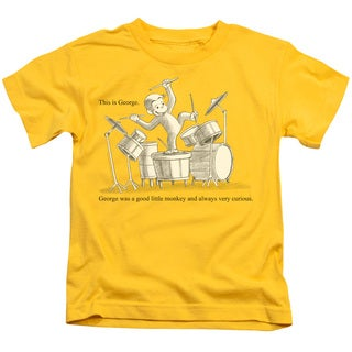 Curious George/This Is George Short Sleeve Juvenile Graphic T-Shirt in Yellow