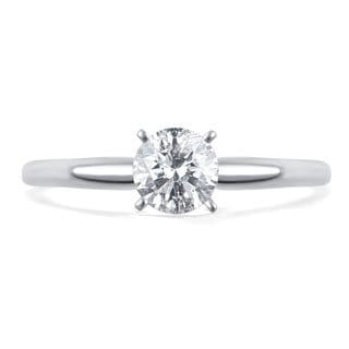 Divina 14k Gold 1/2ct TDW Diamond Solitaire Engagement Ring