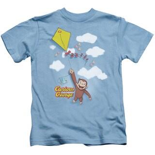 Curious George/Flight Short Sleeve Juvenile Graphic T-Shirt in Carolina Blue