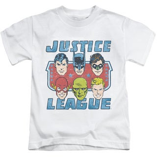 DC/Faces Of Justice Short Sleeve Juvenile Graphic T-Shirt in White